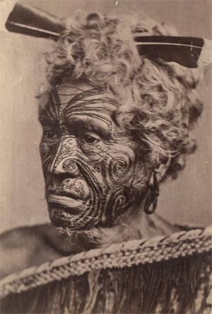 Maori on Maori Au Visage Tatou    Fin Du 19e Si  Cle