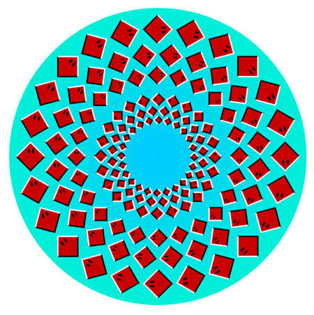 Illusion Rotating rays