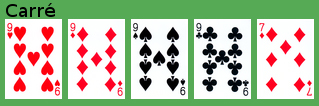 Une brelan au poker casino pres de st malo